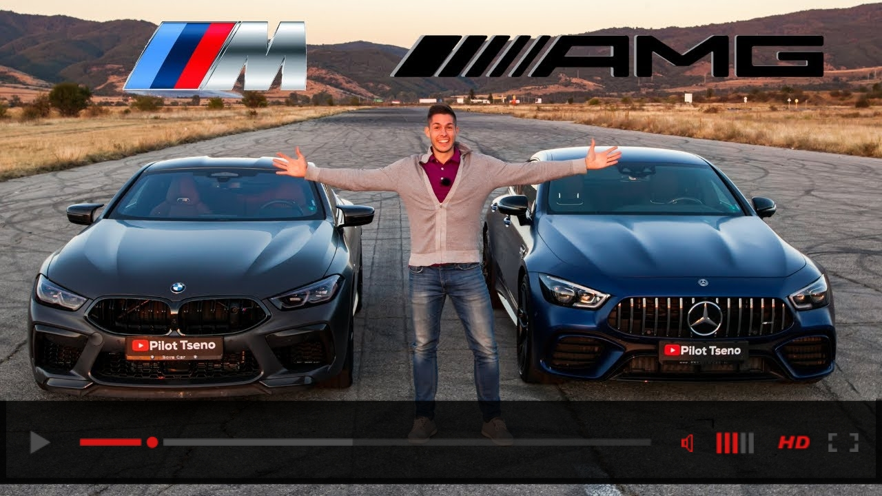 BMW M8 Competition vs Mercedes AMG GT63s DRAG RACE