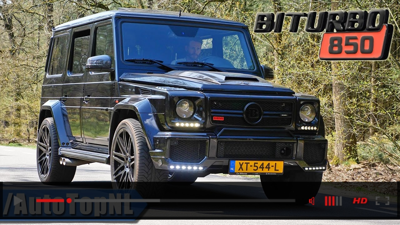BRABUS G850 G63 AMG *INSANELY LOUD* Exhaust SOUND Revs & ONBOARD by AutoTopNL