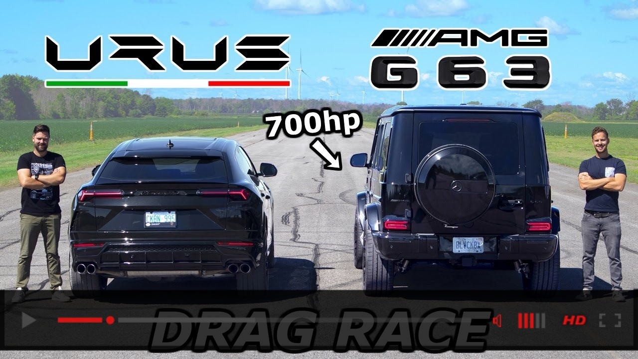 Lamborghini Urus vs 700HP Mercedes-AMG G63 // DRAG & ROLL RACE