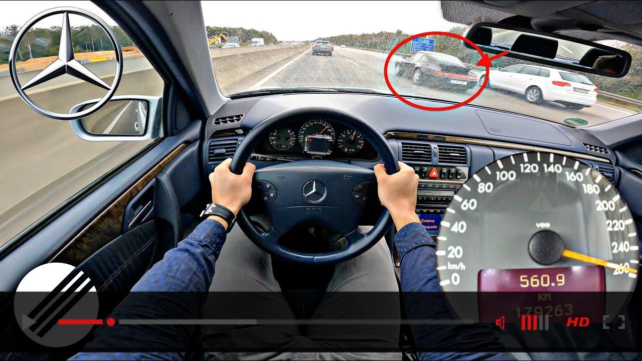 Mercedes-Benz E-Class E430 W210 Lorinser TOP SPEED DRIVE ON GERMAN AUTOBAHN