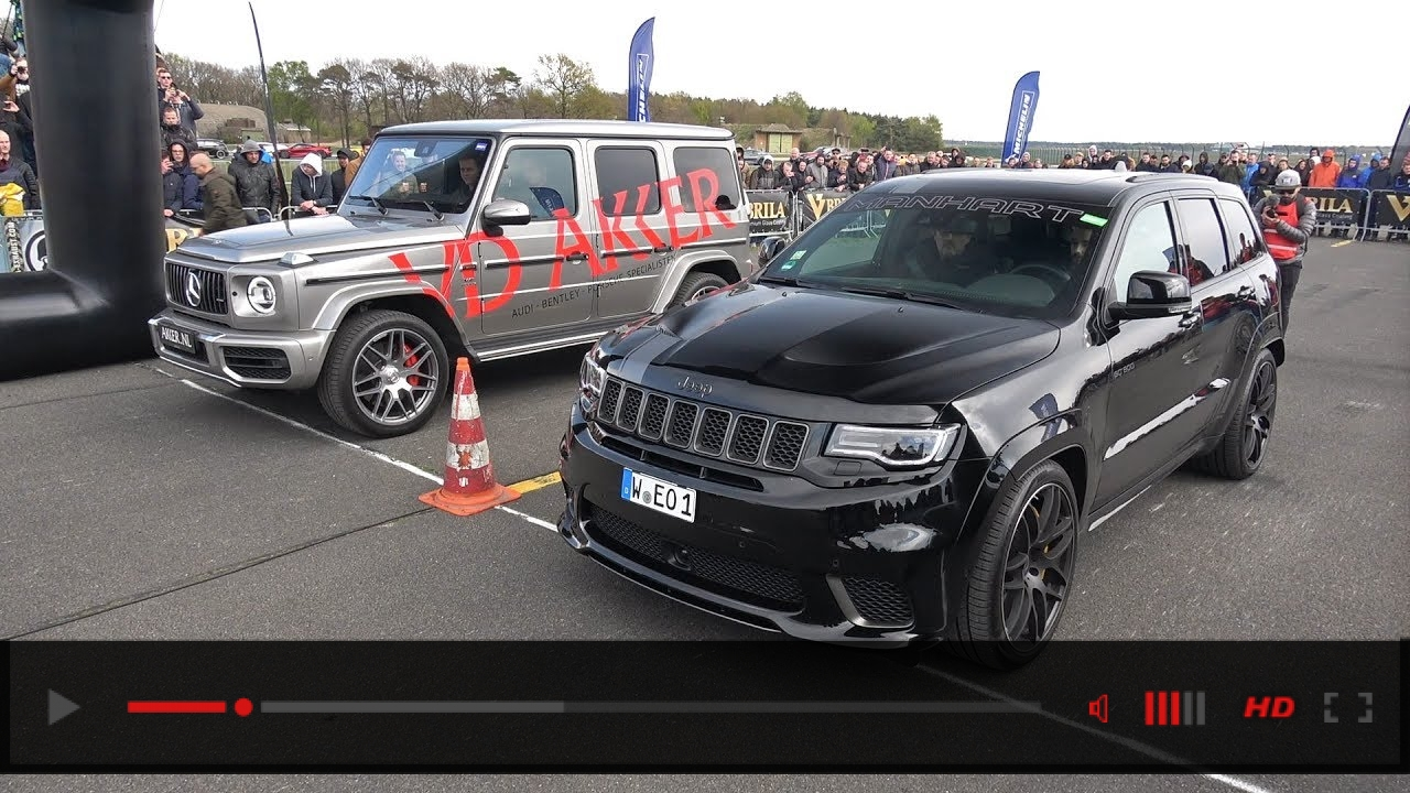 Mercedes-Benz G63 AMG vs Jeep Trackhawk Manhart GC800