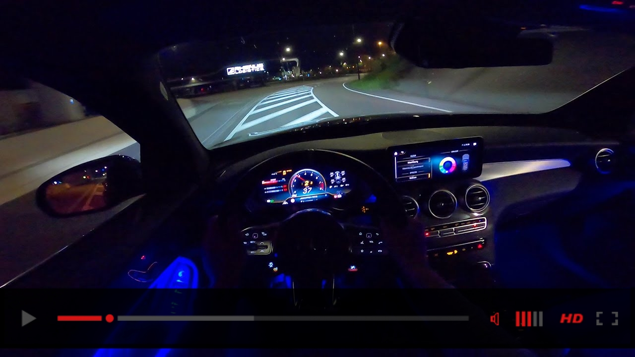 2020 Mercedes AMG GLC 63 S NIGHT DRIVE POV w/ AMBIENT LIGHTING by AutoTopNL