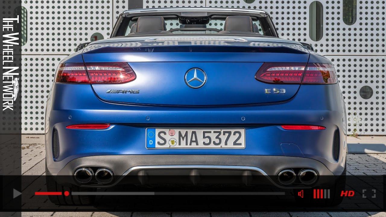 2021 Mercedes-AMG E53 4MATIC+ Cabriolet | Designo Brilliant Blue Magno | Driving, Interior, Exterior