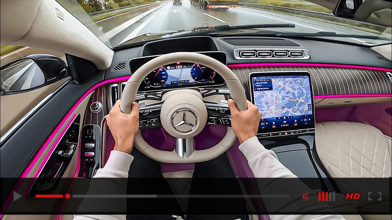2021 S-CLASS Driving! New S-Class Interior Ambiente Light S580
