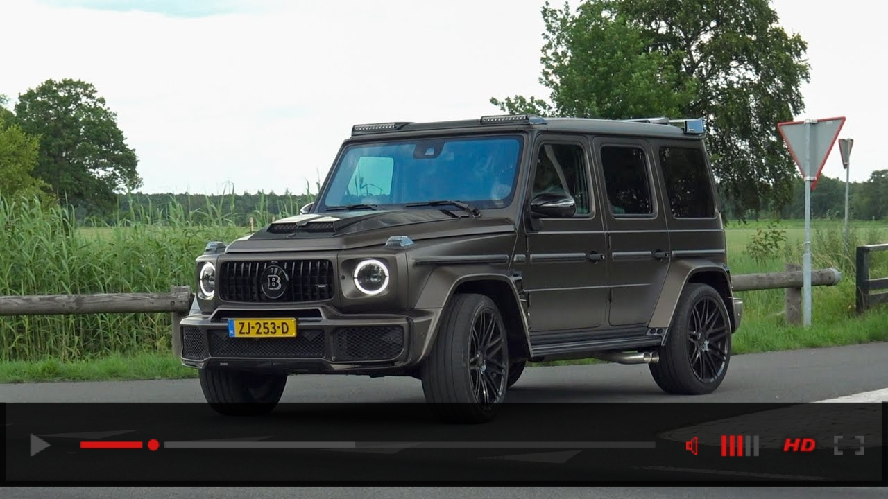 Mercedes-AMG BRABUS G B40-700 Widestar W463 2018 - Start Up, REVS, Accelerations!