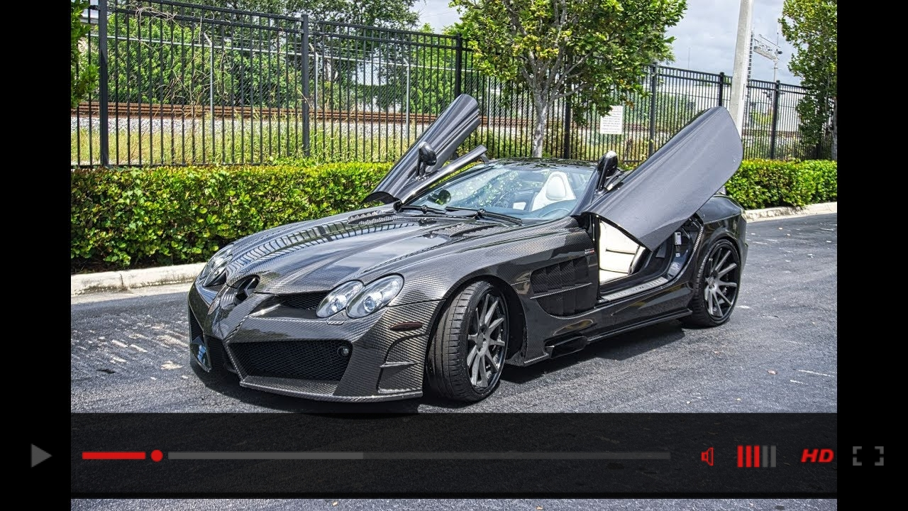 Mercedes Benz SLR McLaren Mansory Renntech Interior Start Up & Drive at Prestige Imports Miami