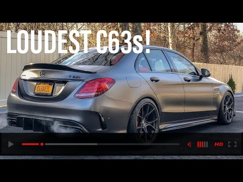 STRAIGHT PIPED the Mercedes AMG C63s?!