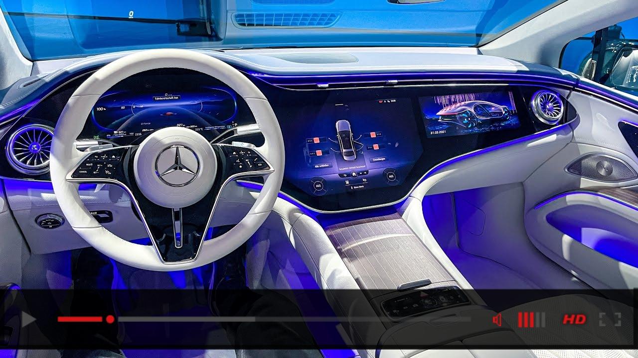 2022 NEW Mercedes EQS Full Interior Walkaround! Mercedes Benz EQS Interior Ambiente