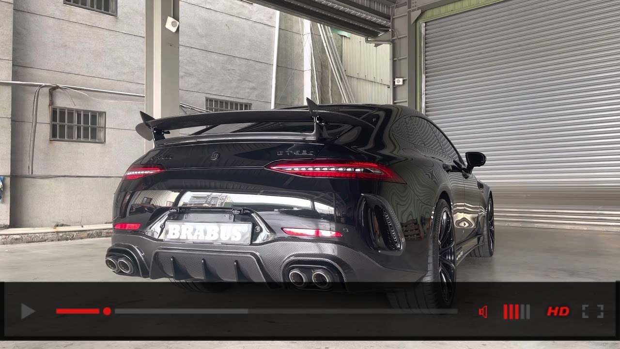 AMG GT63S. BRABUs Exhaust with FI catless down pipe