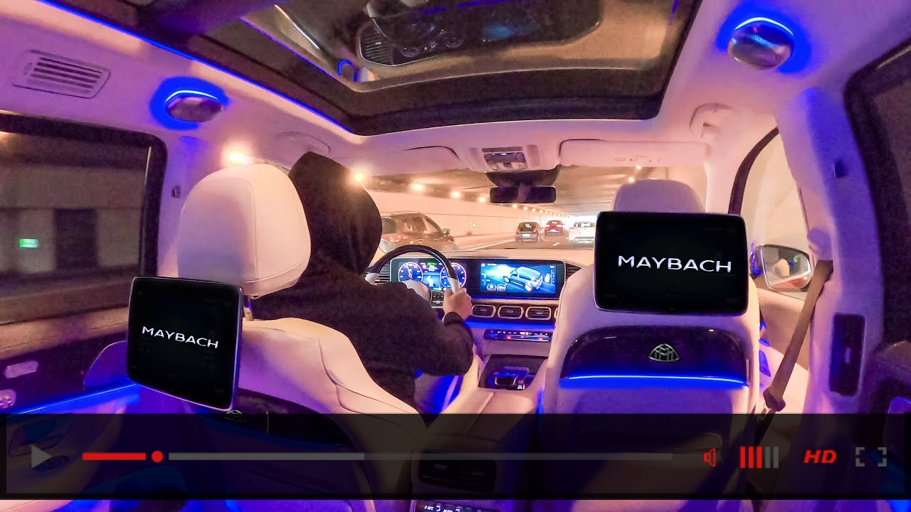 Mercedes GLS600 MAYBACH V8 PASSENGER POV Drive! ALL Features & Gadgets Chauffeured Drive