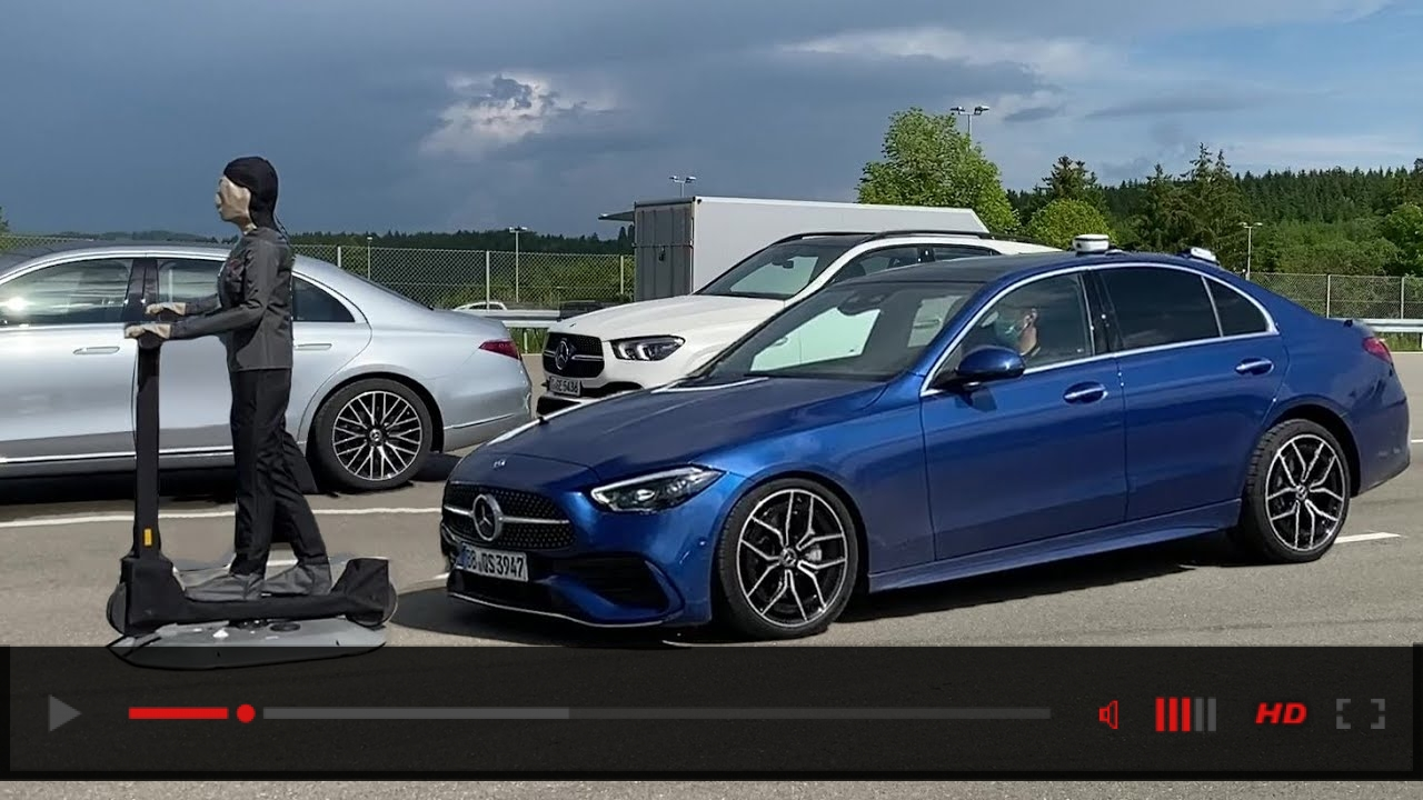 NEW 2022 C-Class CRASH SAFETY Features & Assistance Systems! W206 Intelligent Drive Trailer Assist