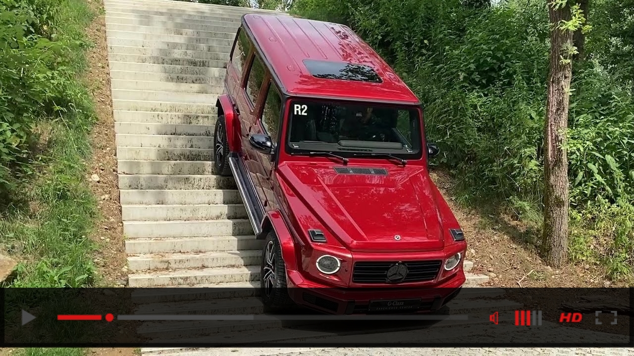 Taking the G-CLASS FOR A SWIM! EXTREME Off Road G-CLASS Driving Swimming Stair Drive Mud Water G500