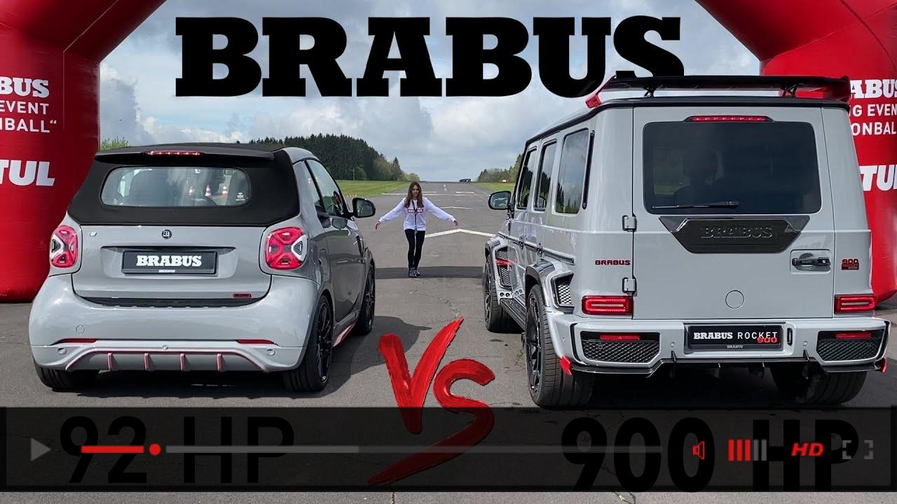 900HP BRABUS G900 ROCKET vs. 92HP SMART DRAG RACE!