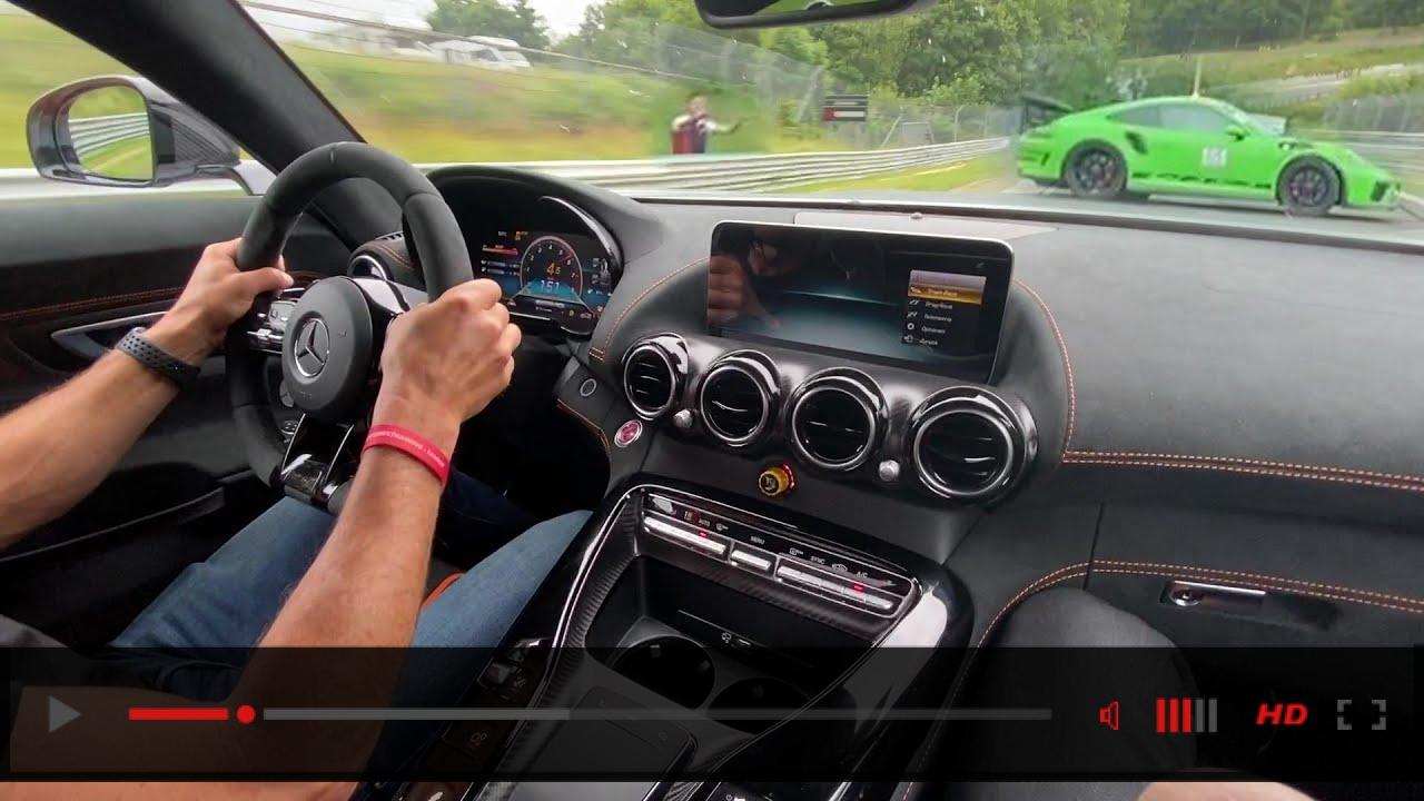 Mercedes AMG GT BLACKSERIES Nürburgring HOTLAP! +CRASH?!